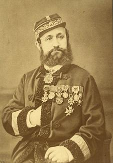 Détroyat as commander of the La Rochelle camp during the Franco-Prussian War