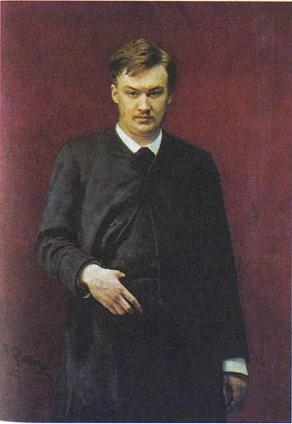 Aleksandr Glazunov (1865–1936), as portrayed by Il'ia Repin in 1887