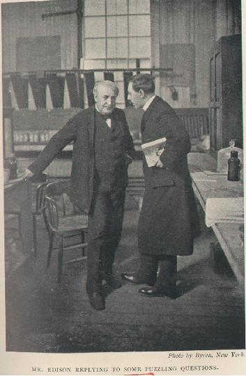 Francis Arthur Jones (b. 1871) interviewing Thomas Alva Edison (1847–1931) for his biography of the American inventor. Photograph by Joseph Byron (1847–1923) for the first edition of this biography (New York / London, 1907)