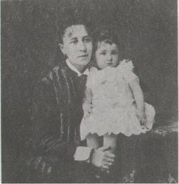 Mariya Kiseleva (d.1921), with her daughter