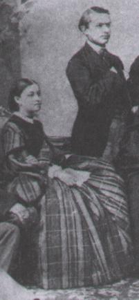 Anna Merkling (1830–1911), seated alongside Tchaikovsky in 1860