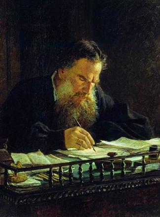 Lev Tolstoy (1828–1910) in an 1884 portrait by Nikolay Ge (1831–1894)